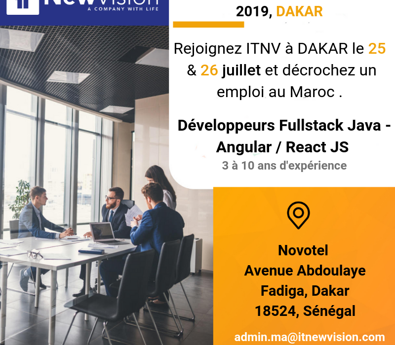 Session de recrutement ITNV DAKAR 2019